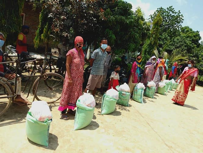 Relief distribution in Kailali district